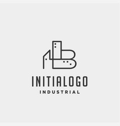 Initial letter b real estate logo design vector