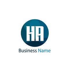 initial letter ha logo template design vector image