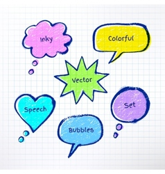 Inky colorful bubble-talks vector image
