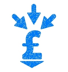 Integrate pound payment grainy texture icon vector