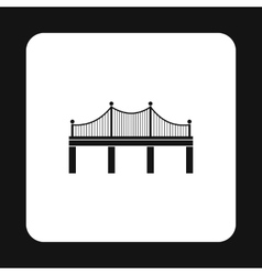 Iron bridge icon simple style vector