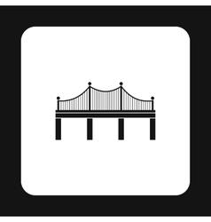 Iron bridge icon simple style vector