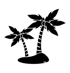Isolated palm tree plant design vector image vector image