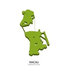 Isometric map of Macau detailed vector