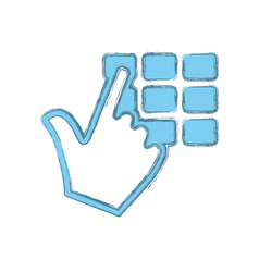 Keypad pointer hand vector