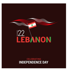 Lebanon independence day design vector