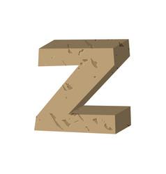 Letter z stone font rock alphabet symbol stones vector
