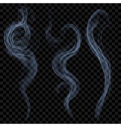 Light blue smoke vector