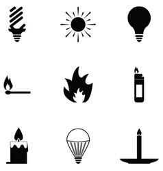Light icon set vector