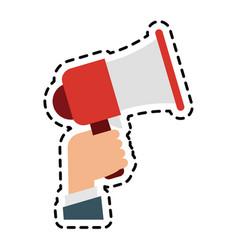 mobile loudspeaker icon image vector image