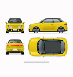 modern compact city car mockup vector image