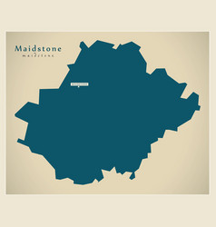Modern map - maidstone district uk vector