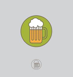 mug beer foam icon linear style vector image