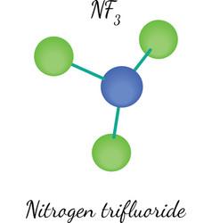 Nitrogen trifluorid NF3 molecule vector image