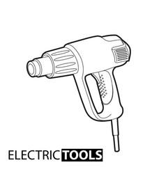 outline building dryer vector image