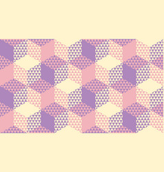 pastel violet and ivory seamless pattern vector image