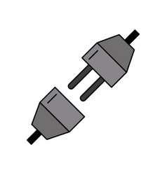 Plug extension icon image vector