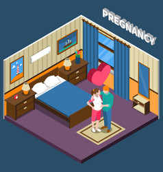 pregnancy isometric composition vector image