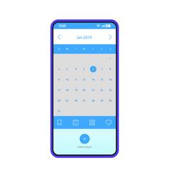 Reminder smartphone app interface template vector