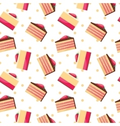 Seamless background with pattern of delicious vector image
