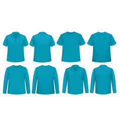 set different types shirt in same color vector image