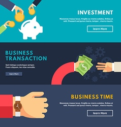 Set flat design concepts for web banners vector