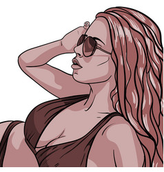 sexy young woman in swimsuit vector image