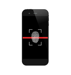 smartphone with fingerprint scanning vector image