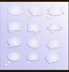 Speech bubble abstract 3d design vector
