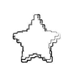 star pixelated videogame vector image