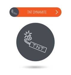TNT dynamite icon Bomb explosion sign vector image