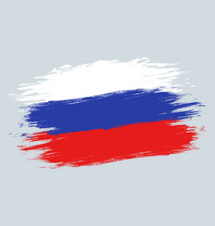 vintage russian flag vector image