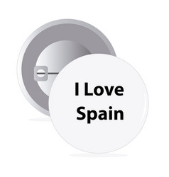 White round pin with text spain vector