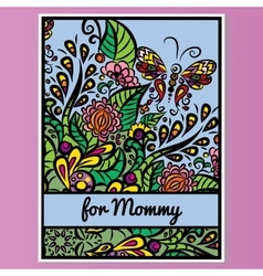 card Mother day Pink background vector image vector image