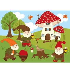 Forest Gnomes Set vector image vector image
