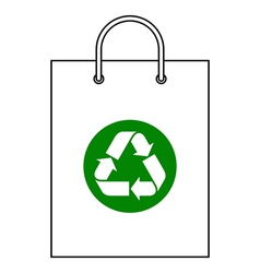 Shopping bag with recycle symbol vector image vector image