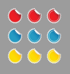 sticker set color on grey vector image vector image