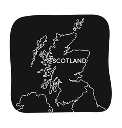 territory of scotland icon in black style isolated vector image