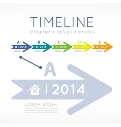 Timeline infographic vector image vector image