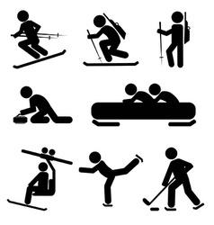 Winter Sport Icon Set vector image