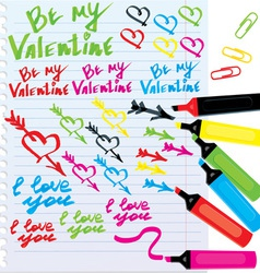 different colors markers vector image vector image