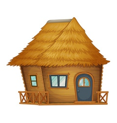 hut or cabin on a white background vector image