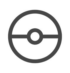 Pokeball icon in gray color vector image vector image