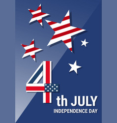 united states independence day holiday 4 july vector image