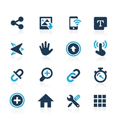 Web and Mobile 10 Azure Series vector image vector image