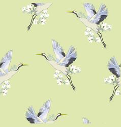 crane pattern vector image vector image