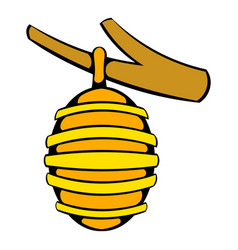 hive on branch icon icon cartoon vector image vector image
