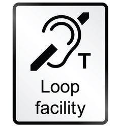 Loop Facility Information Sign vector image vector image