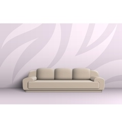 Three seater sofa in the room vector image
