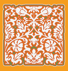 Background with flowers and leaves vector image vector image
